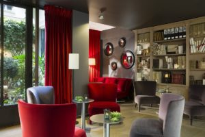 Hotel Moliere - lounge bibliotheque