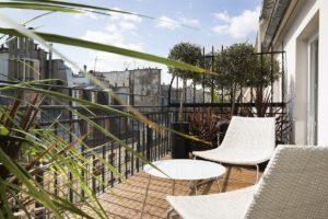 Hotel Moliere - Terrasse