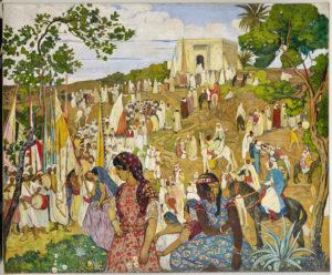 La fête arabe dans la campagne de Tlemcen. Auteur de l'oeuvre : André Suréda