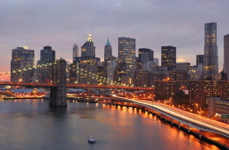skyline of Manhattan New York
